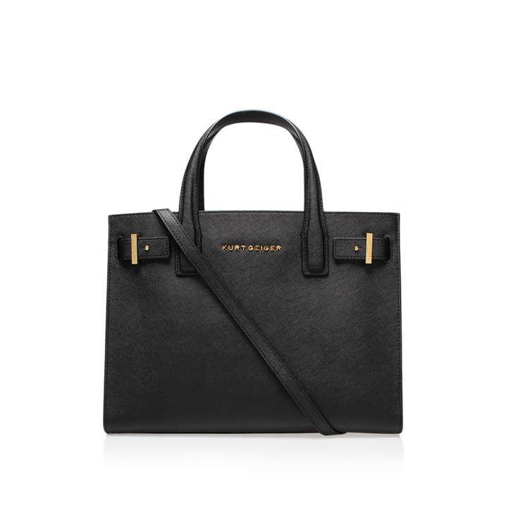 c54a451e0de1 Saffiano London Tote Black Saffiano London Tote Bag By Kurt Geiger London
