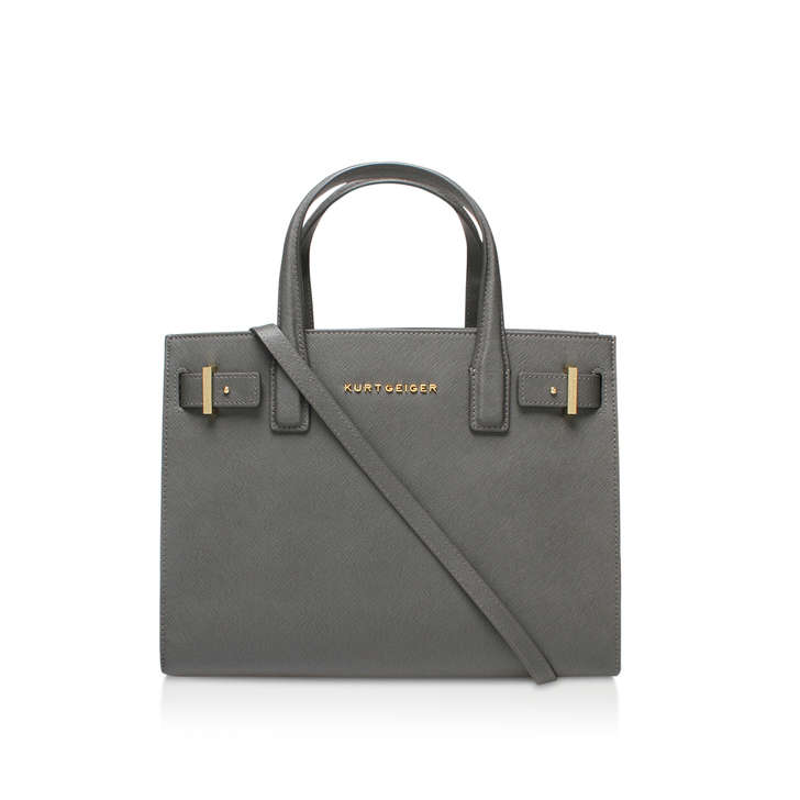 Saffiano London Tote Grey Saffiano London Tote Bag By Kurt Geiger ...