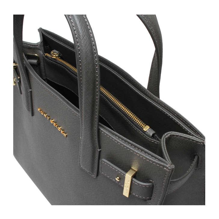 Saffiano London Tote Grey Saffiano London Tote Bag By Kurt Geiger ...