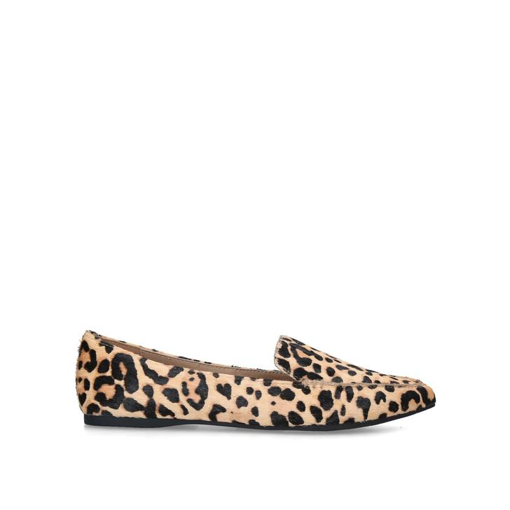 leopard print backless loafers