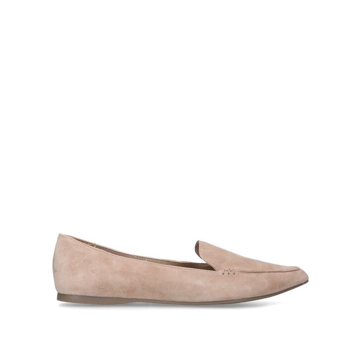 FEATHER Camel Suede Loafers by STEVE