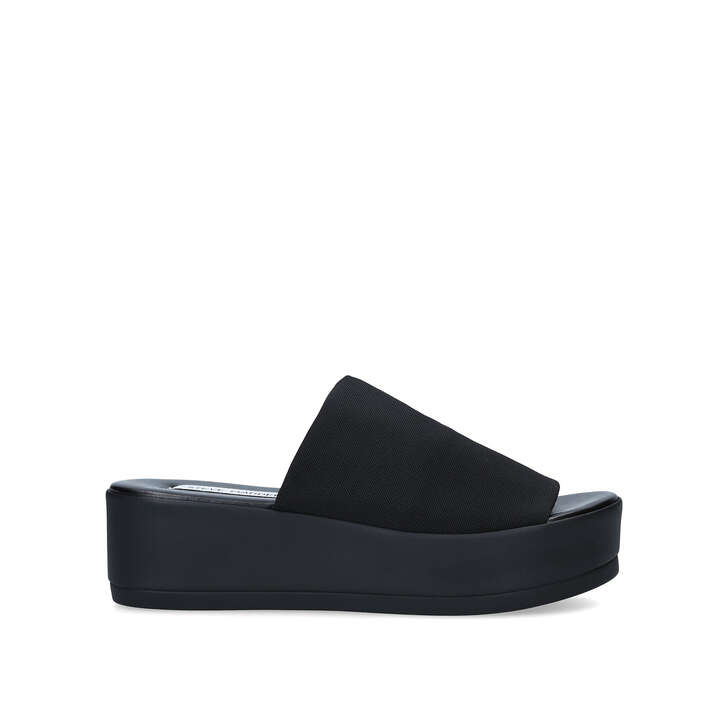 black flatform shoe