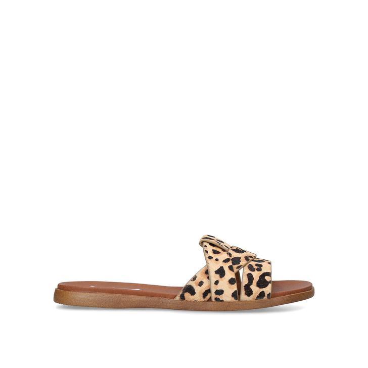 VIVIEN-L Leopard Print Sliders by STEVE