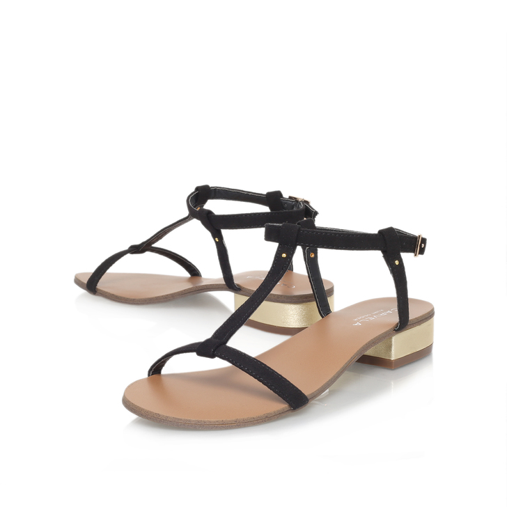 819cfc307b3 Bounty Black Low Heel Sandals By Carvela