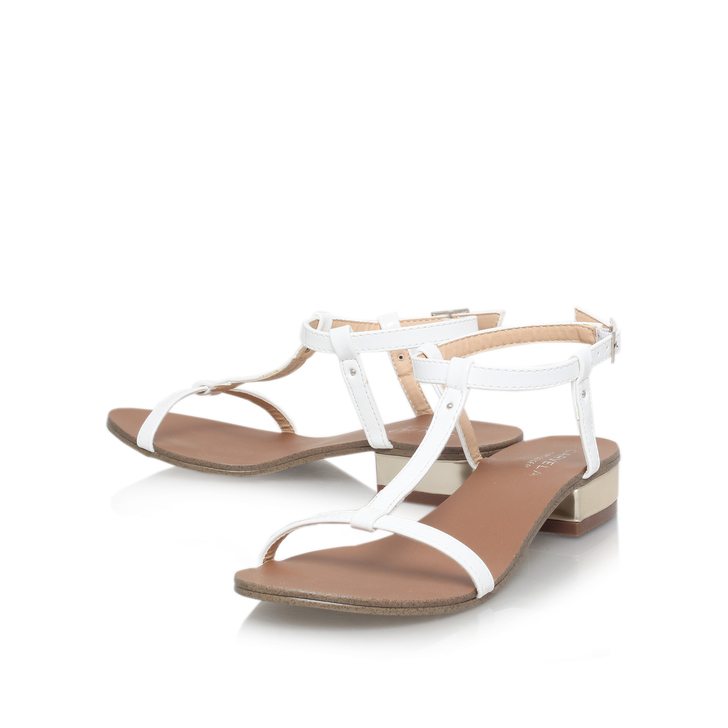 3b966789380 Bounty White Low Heel Sandals By Carvela