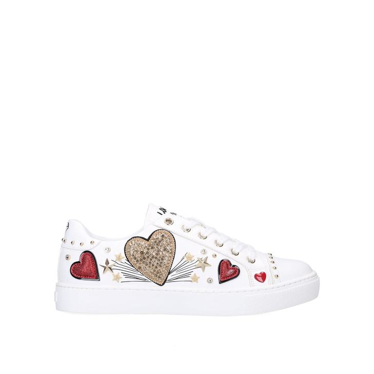 ELIXIR White Embellished Trainers by