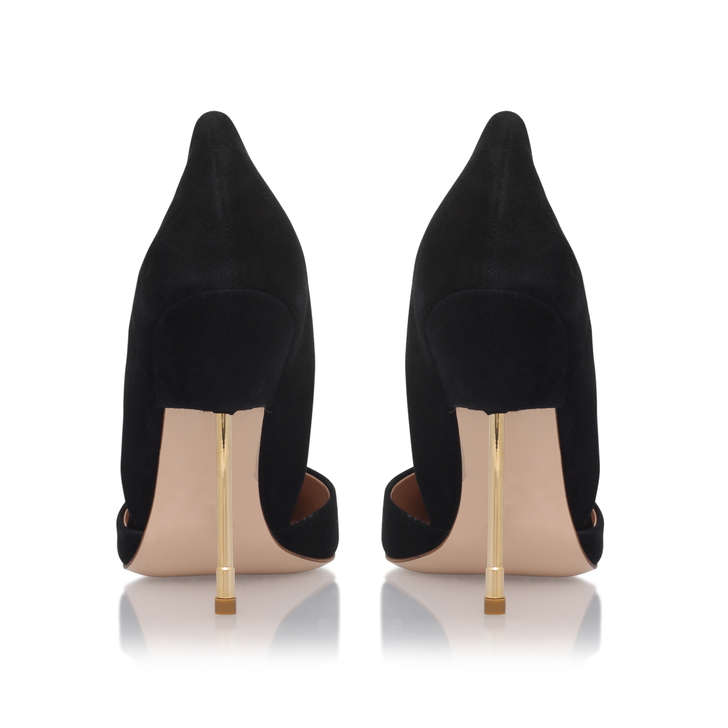 Bond Black High Heel Court Shoes By Kurt Geiger London | Kurt Geiger