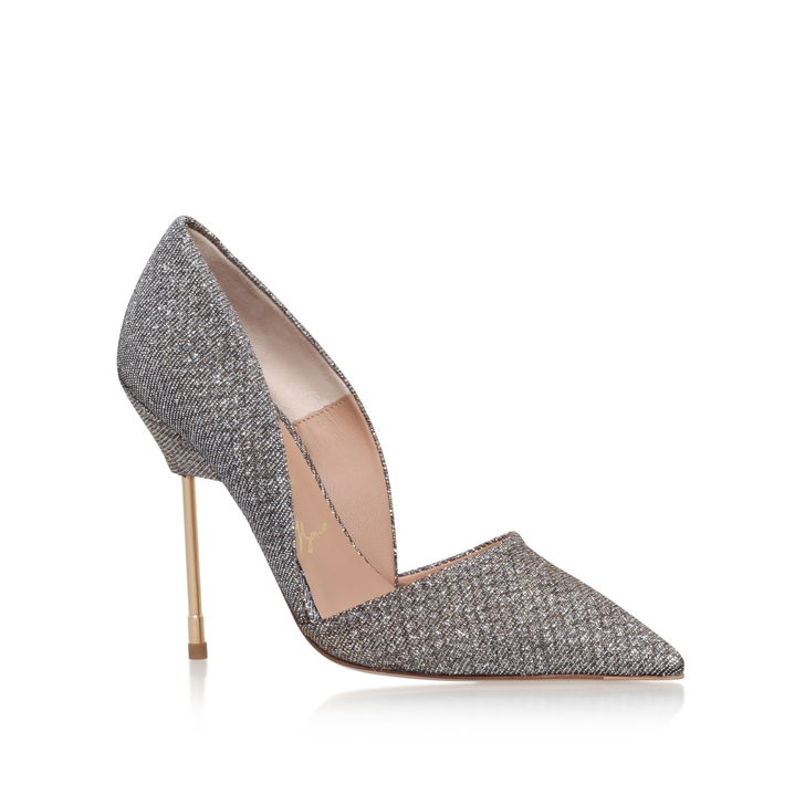 Bond Metallic High Heel Court Shoes By