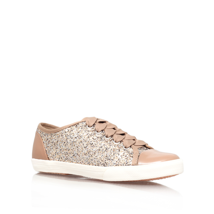 sparkly gold trainers
