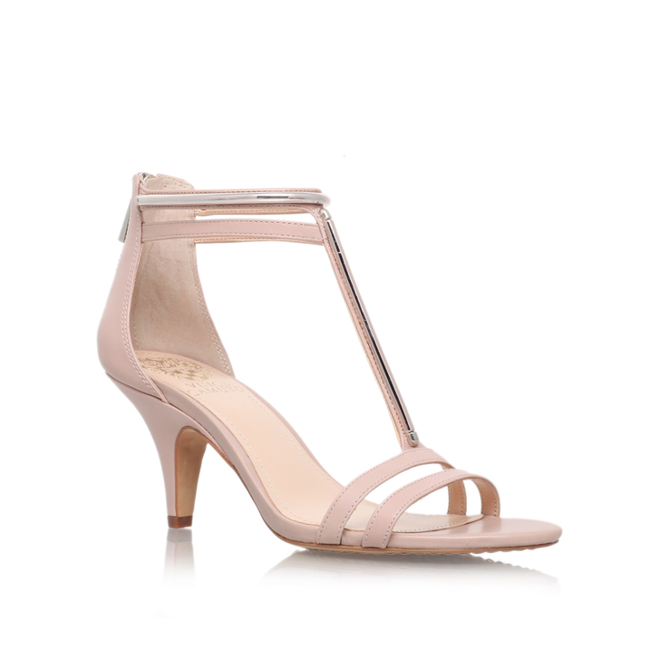 f11e79c41ab Mitzy Nude Mid Heel Sandals By Vince Camuto
