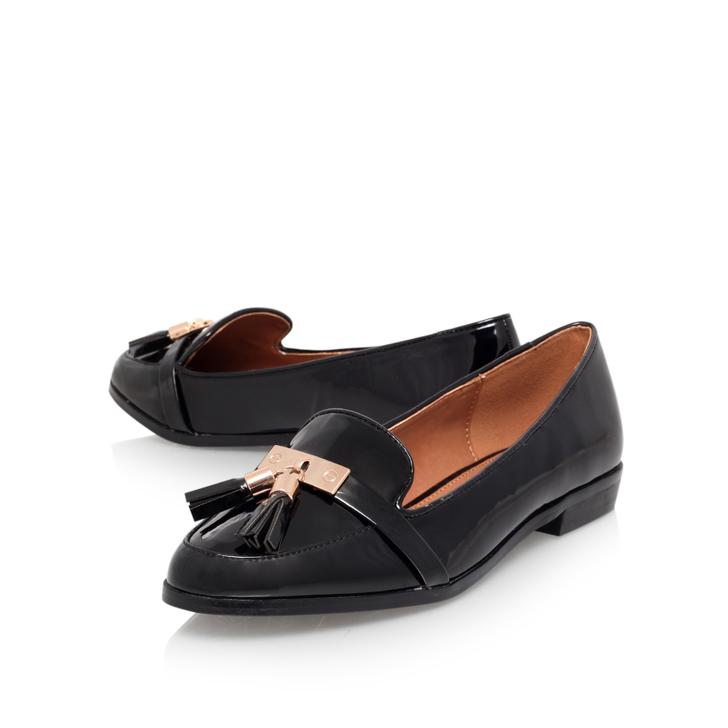 75d61e7b48c Nadia Black Flat Loafer Shoes By Miss KG