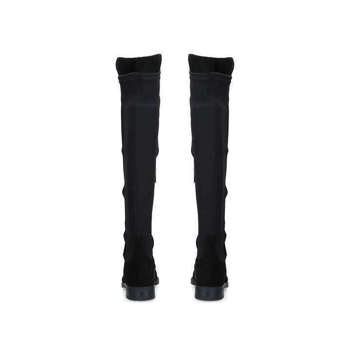 6288472618d6 Walnut Black Low Heel Knee Boots By Carvela