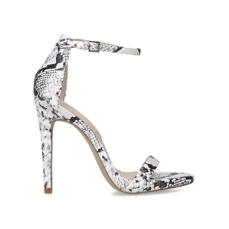 CARAA Snake Print Stiletto Heel Strappy