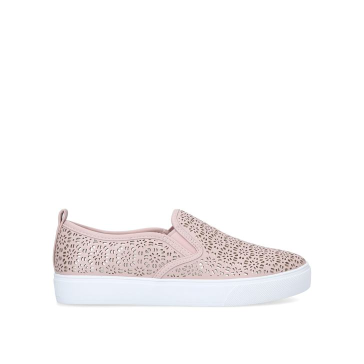 JILLE Pale Pink Slip On Trainers by