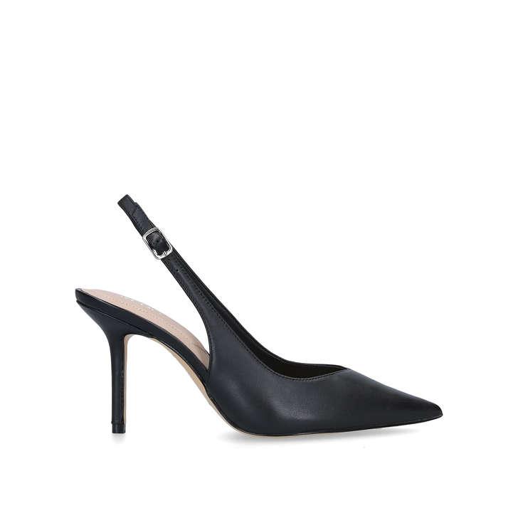Julietta Black Slingback Court Heels By