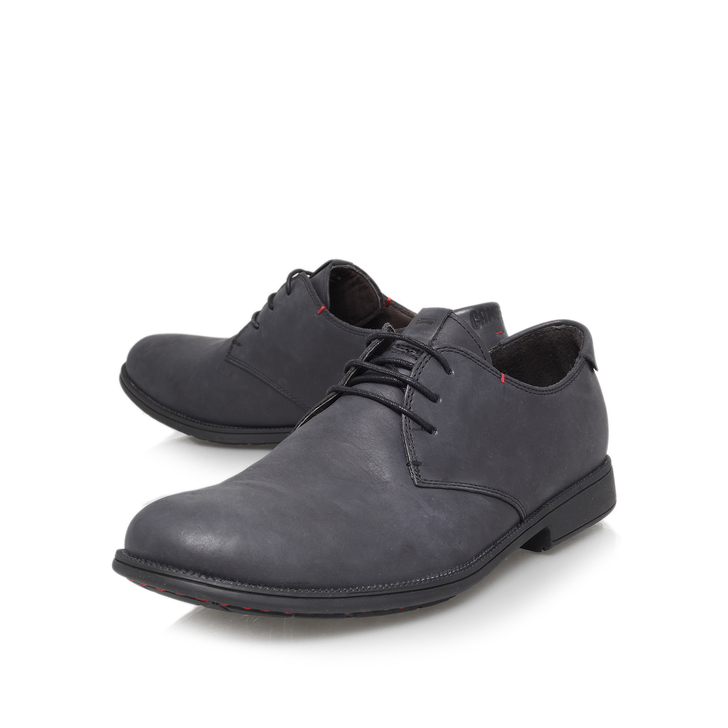 3 Eye Derby Black Flat Lace Up Shoes By Camper Kurt Geiger