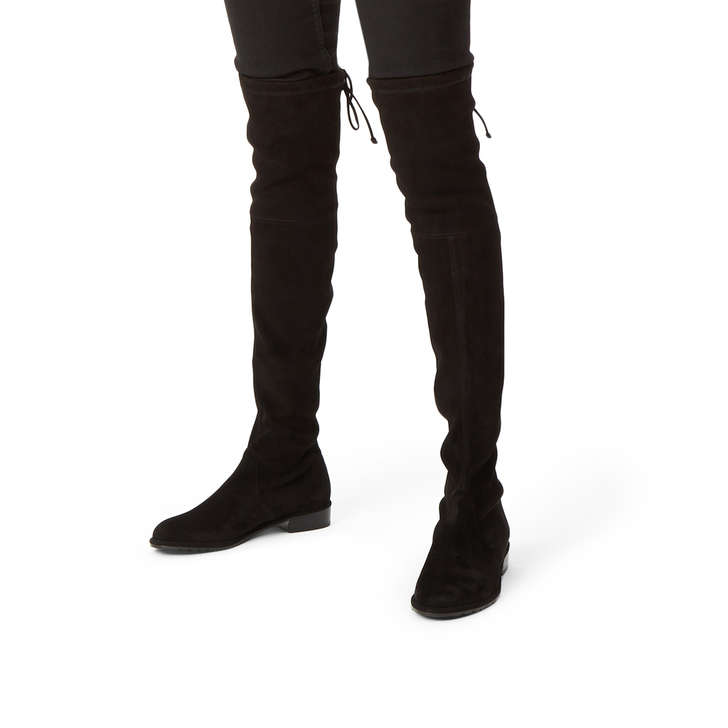 4b38047af1dd Lowland Black Suede Over The Knee Boots By Stuart Weitzman | Kurt Geiger