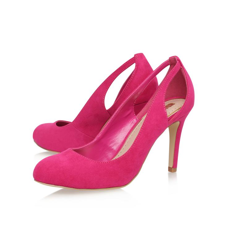 Bernadette Pink Mid Heel Court Shoes By Miss KG | Kurt Geiger