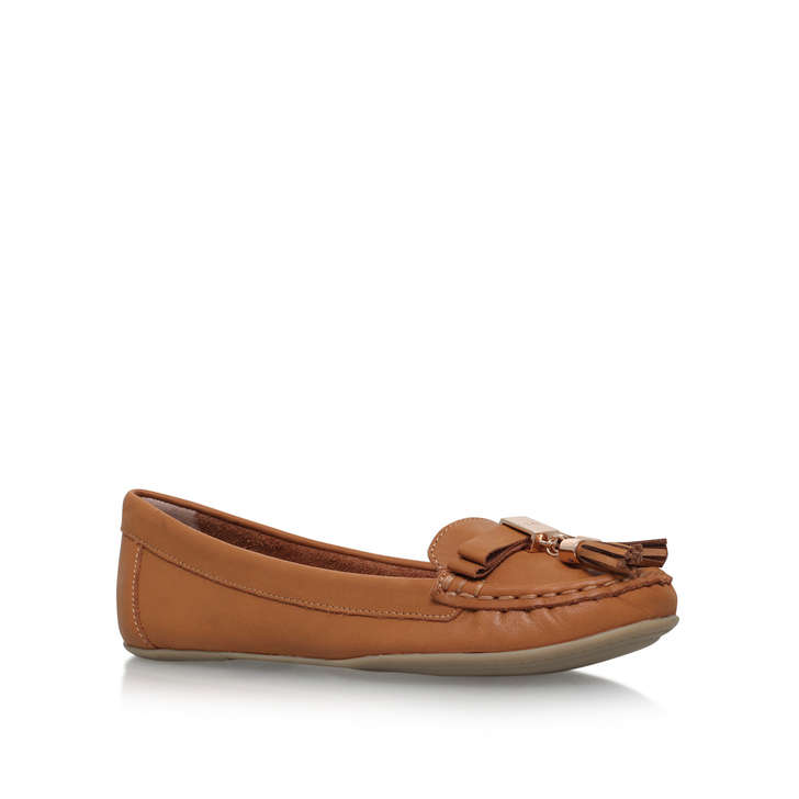 outlet low price fee shipping geniue stockist sale online Tan 'Leaf' flat slip on loafer top quality for sale outlet get to buy W5pBea