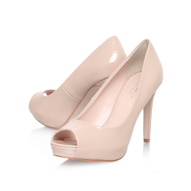 6bf7369698f Lara Nude Peep Toe Shoes By Carvela