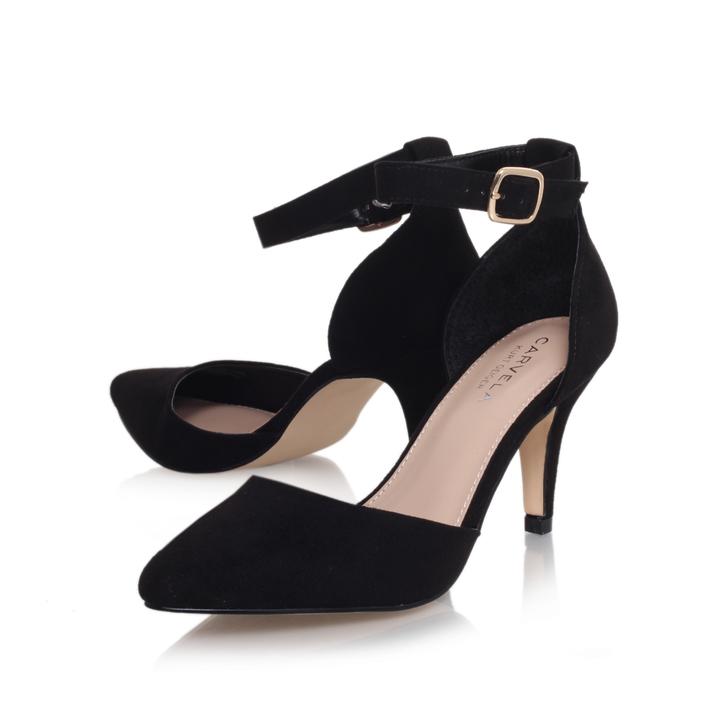 2ca56e83562 Kandice Black Mid Heel Sandals By Carvela