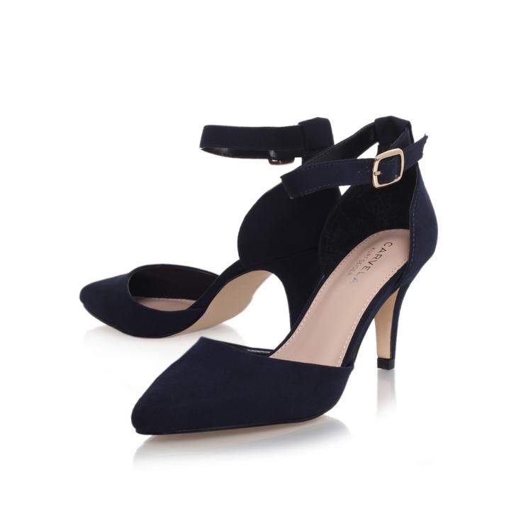 c52d35a93c2 Kandice Navy Mid Heel Sandals By Carvela