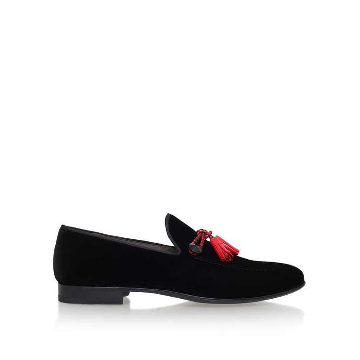 Kg By Kurt Geiger Velvet Tassel Loafers Black - Black Kurt Geiger Pev2j