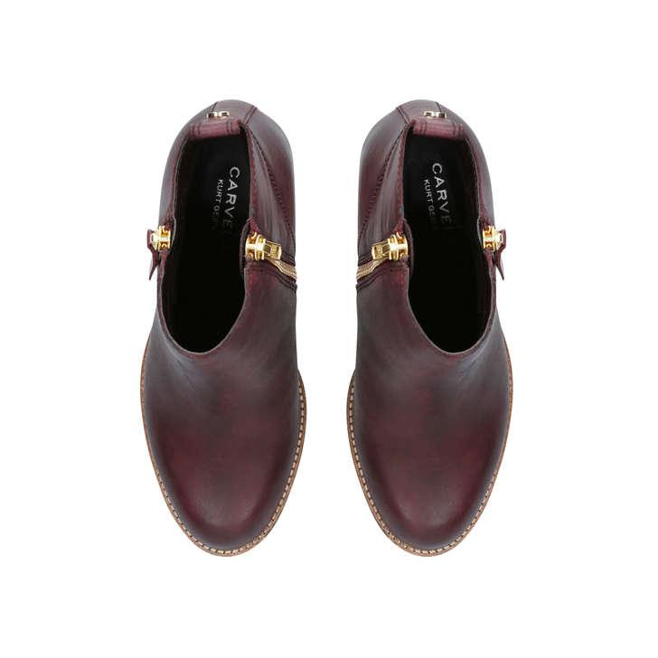 36210dae65dd Tanga Wine Block Heel Ankle Boots By Carvela | Kurt Geiger