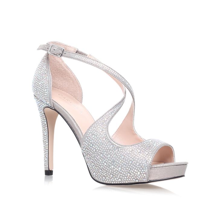 Gift Silver High Heel Sandals By Carvela Kurt Geiger | Kurt Geiger