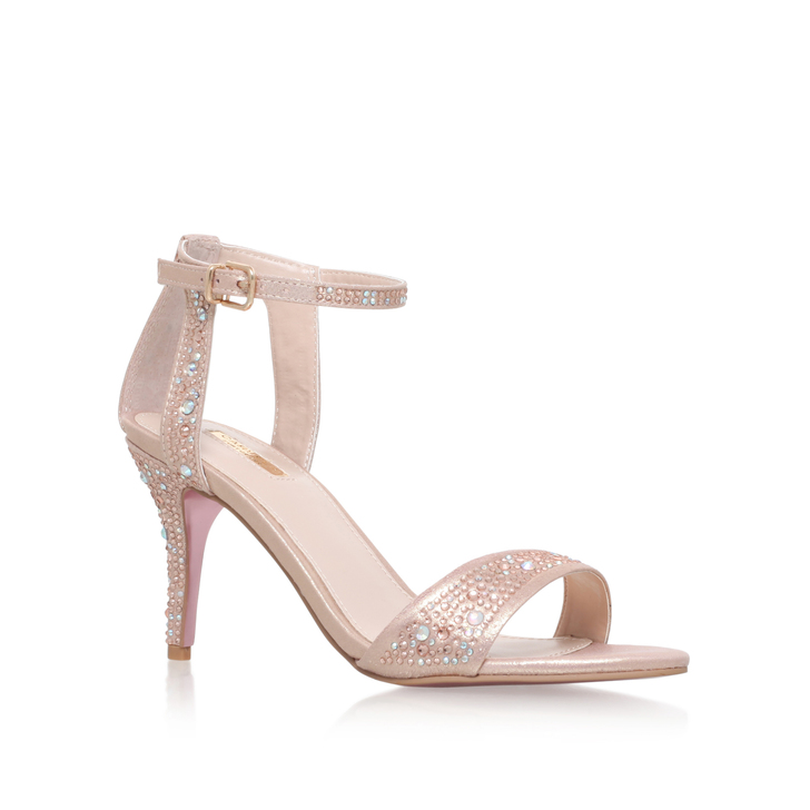 5988dad0c3dd Kollude Pink Mid Heel Sandals By Carvela