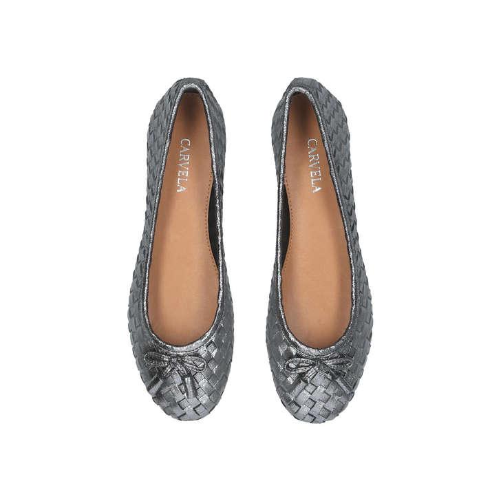 d88934e5e Luggage Metallic Ballerina Shoes By Carvela | Kurt Geiger