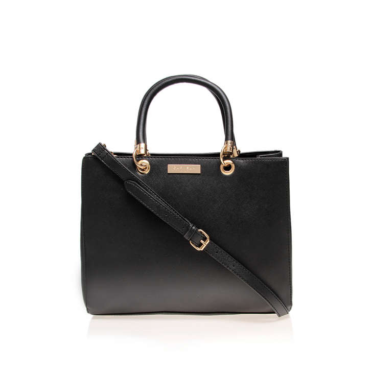 Darla Structured Tote Black Tote Bag By Carvela Kurt Geiger | Kurt ...