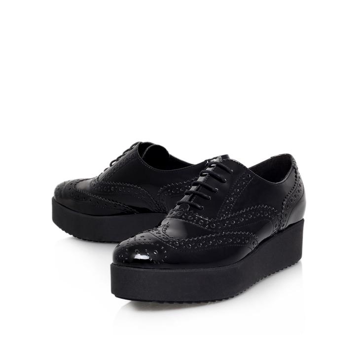 Leslie Black Platform Brogue Shoes By Carvela Kurt Geiger