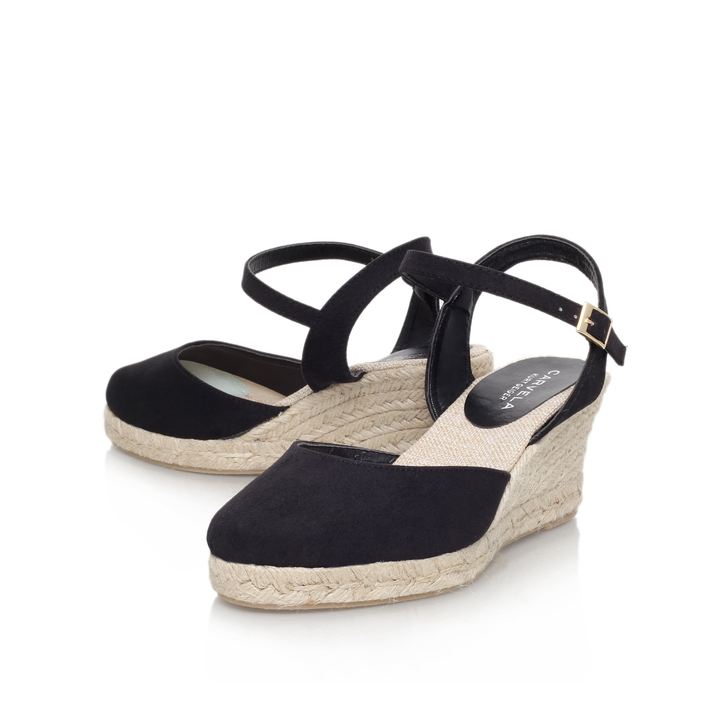 8c1fa91a29a Sabrina Black Mid Heel Wedge Shoes By Carvela