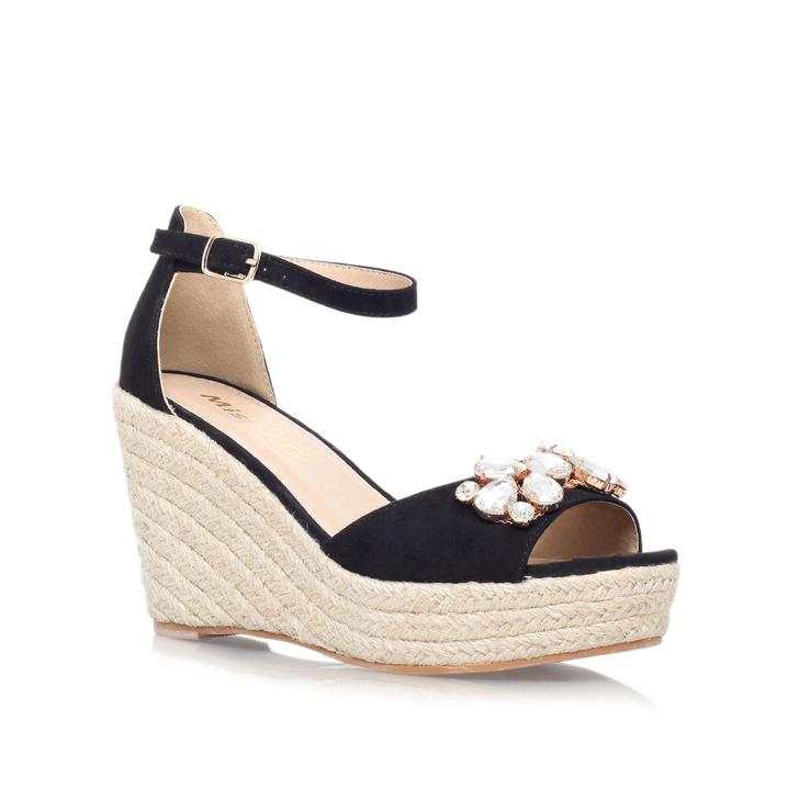 Heel Wedge Sandals By Miss KG | Kurt Geiger