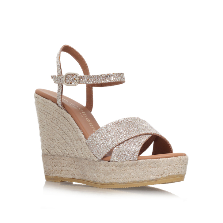 Amerie Peach High Heel Wedge Sandals By Kurt Geiger London wGtgmqwS