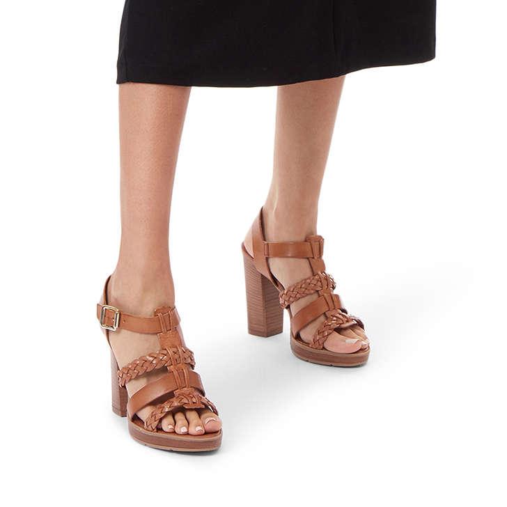 eccf3a22c87 Krill Tan Block Heeled Sandals By Carvela