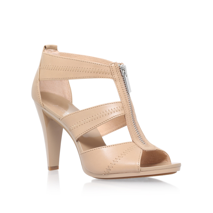 a68ad9425955 Berkley T Strap Nude High Heel Sandals By Michael Michael Kors ...