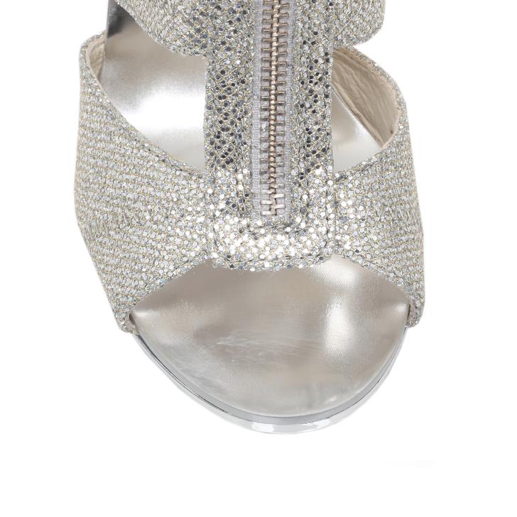 michael kors berkley t strap silver glitter