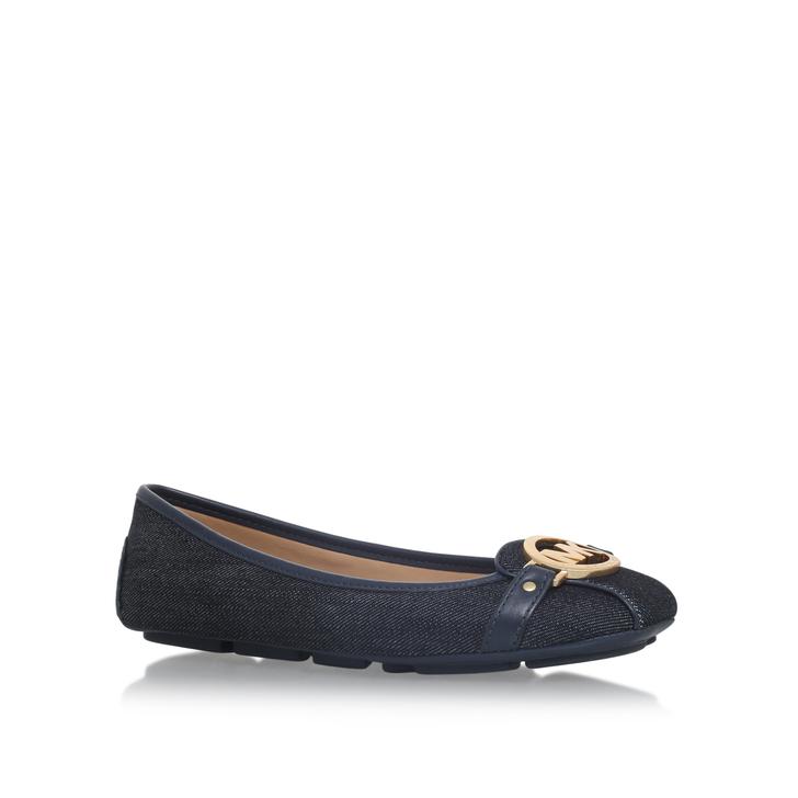 58f9d66fb Fulton Moc Navy Flat Ballerina Shoes By Michael Michael Kors   Kurt Geiger