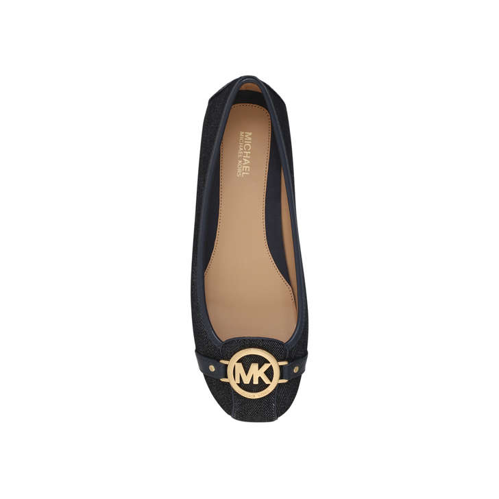 6709b95a095 Fulton Moc Navy Flat Ballerina Shoes By Michael Michael Kors