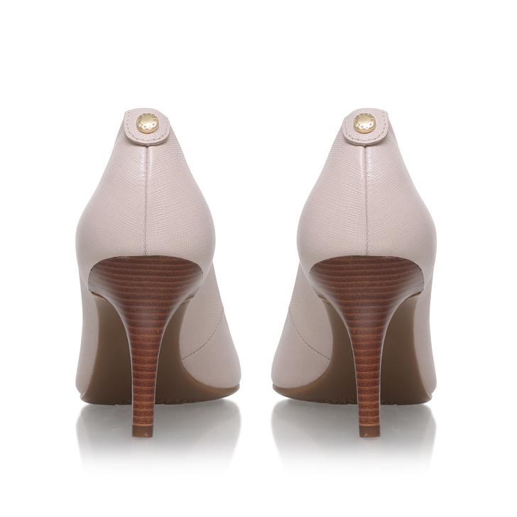 Mk-flex Mid Pump Pink Mid Heel Court Shoe By Michael Michael Kors ... b3bae464859a