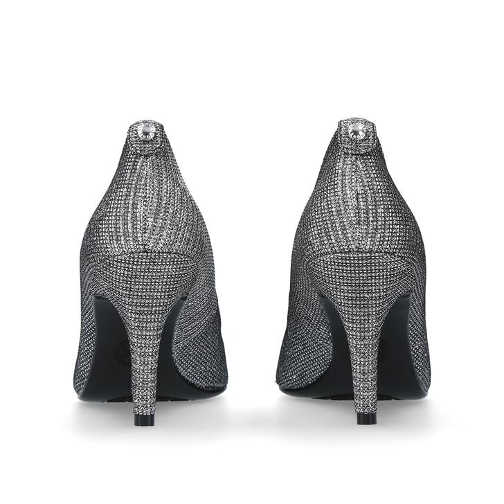 51bd5d86f24b Mk-flex Mid Pump Gunmetal Mid Heel Court Shoes By Michael Michael Kors
