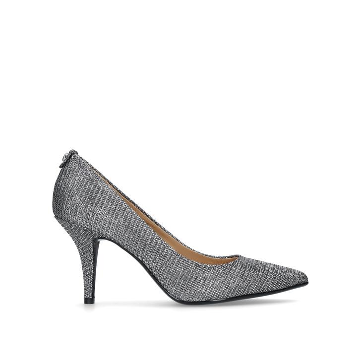 Discount Michael Michael Kors Gunmetal Flex Metallic Court Shoes for Women On Sale