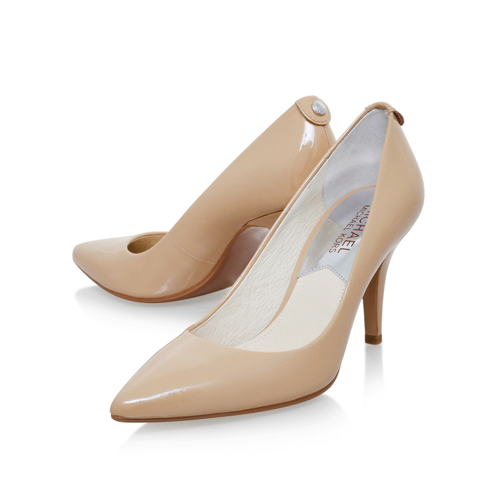 Mk Flex Mid Pump Nude Mid Heel Court Shoes By Michael Michael Kors ...