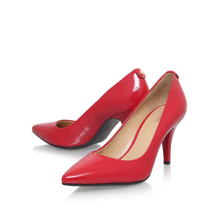 9946777b8221 Mk Flex Mid Pump Red Mid Heel Court Shoes By Michael Michael Kors ...