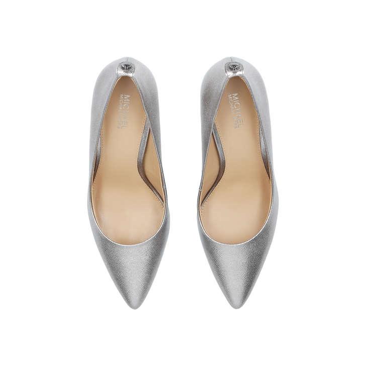 ebfc847ea15a Mk Flex Mid Pump Gunmetal Mid Heel Court Shoes By Michael Michael Kors