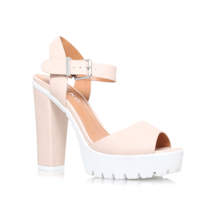 5ff34c47a07 Panther Nude High Heel Sandals By Miss KG