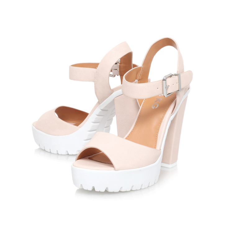 7380185ad56 Panther Nude High Heel Sandals By Miss KG