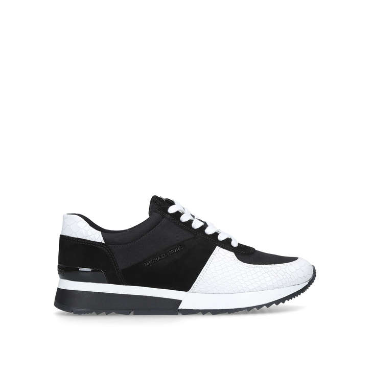 1311aafab7b5 Allie Trainer Black And White Low Top Trainers By Michael Michael Kors |  Kurt Geiger